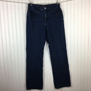 NYDJ Straight Leg Jeans Dark Wash Stretch Denim